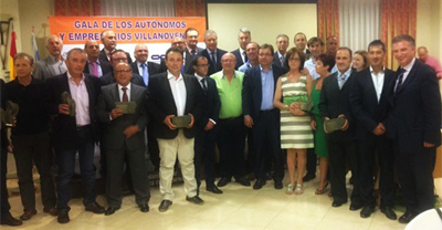 Gala Autónomos y Empresas Villanovenses