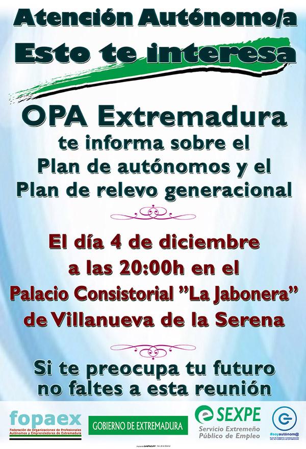 Jornada OPA Extremadura