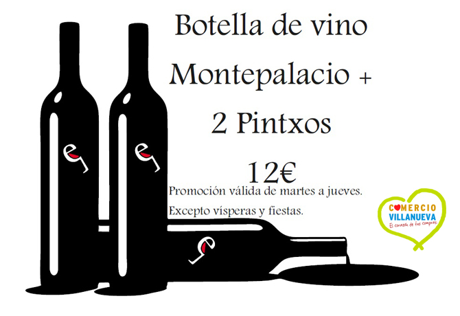 Envero Montepalacio + 2 Pintxos