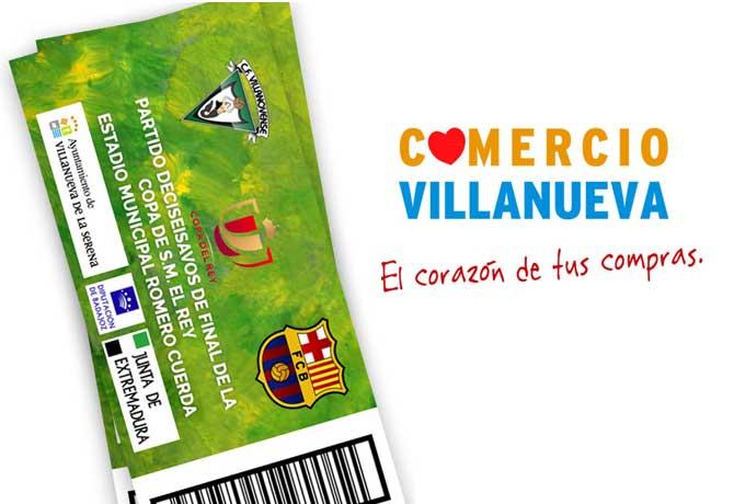 Sorteo entradas Villanovense CF. vs Barcelona FC.