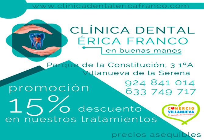 Clínica Dental Erica Franco Promoción 15%