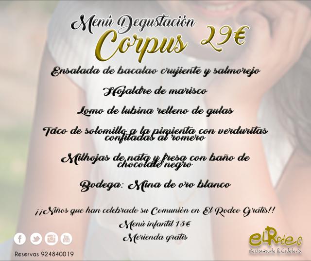 Menú Degustación Corpus En El Rodeo Restaurante