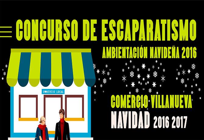 Concurso Escaparatismo Comercio Villanueva Navidad 2016