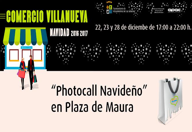 Photocall Navideño Plaza Maura