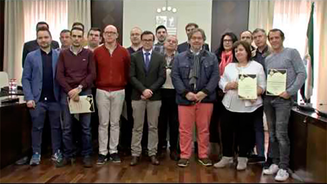Entregados los diplomas a los 17 establecimientos hosteleros participantes en el proyecto Villanueva EmPlata