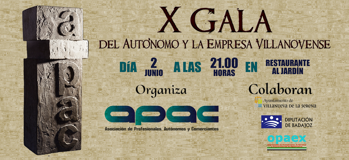 Gala del autónomo y La Empresa Villanovense 2017