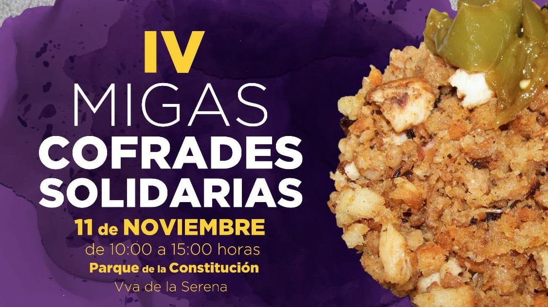 El sábado 11 de noviembre se celebran las IV Migas Cofrades Solidarias
