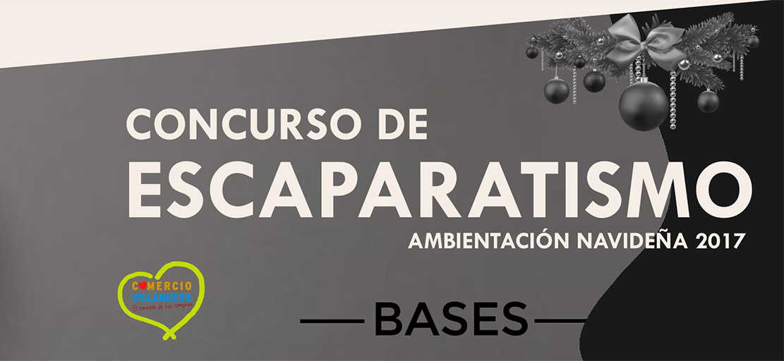 BASES – CONCURSO DE ESCAPARATISMO NAVIDAD 2017