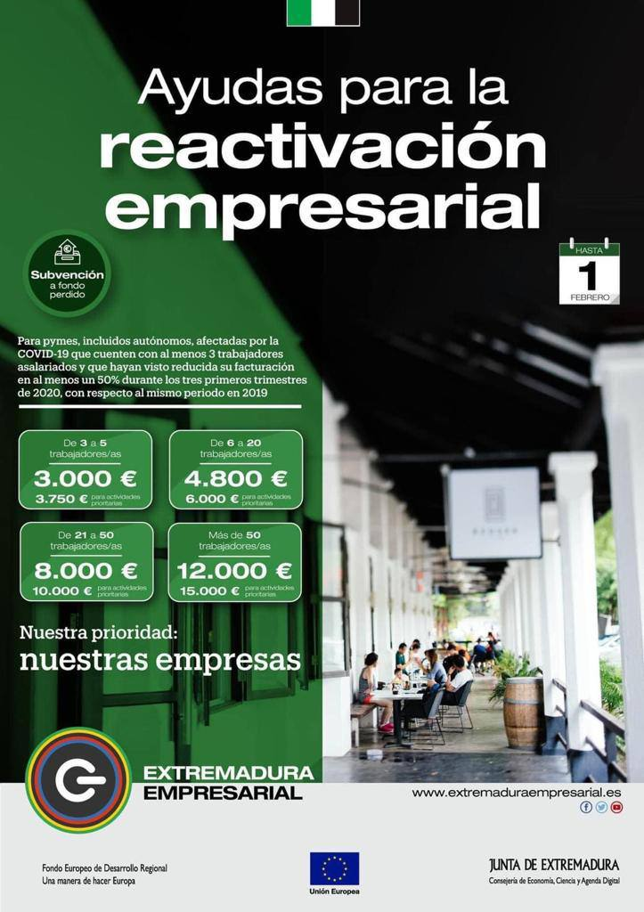 Ayudas para la reactivación empresarial