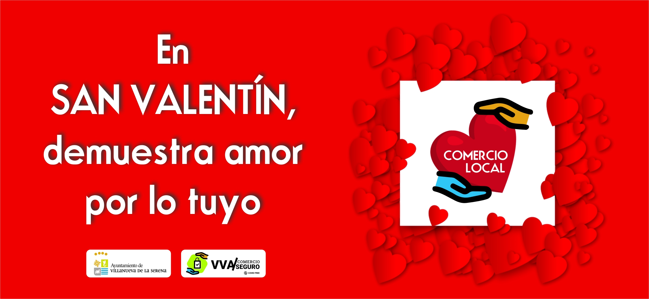 En San Valentín demuestra «amor por lo tuyo»